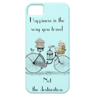 La felicidad es la manera que usted viaja iphone 5 funda para iPhone 5 barely there