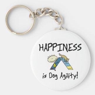 La felicidad es llavero de la agilidad del perro