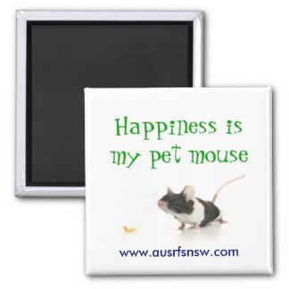 La felicidad es mi ratón del mascota imanes para frigoríficos