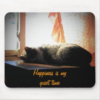 La felicidad es mi tiempo reservado tapete de ratones