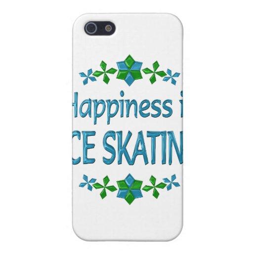 La felicidad es patinaje de hielo iPhone 5 fundas