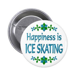 La felicidad es patinaje de hielo pin