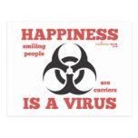 """La """"felicidad es postal de un virus"""""""