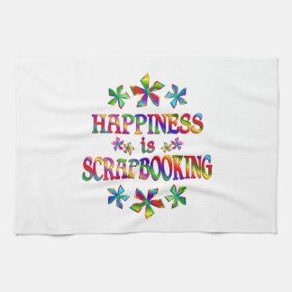 La felicidad es Scrapbooking Toallas