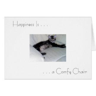 """La """"felicidad es…"""" tarjeta de felicitación"""