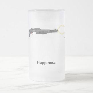La felicidad es… taza cristal mate