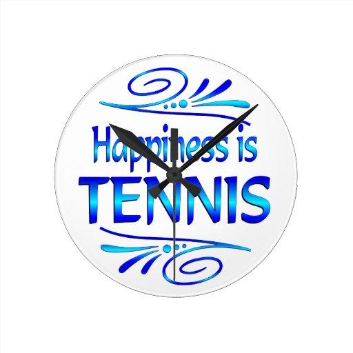 La felicidad es TENIS Relojes De Pared