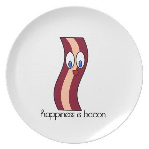 La felicidad es tocino platos para fiestas