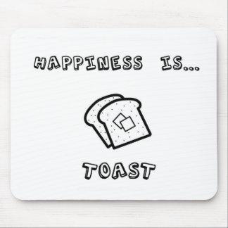 La felicidad es tostada tapetes de ratones