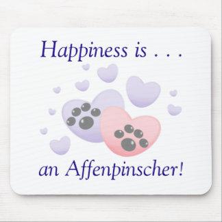 La felicidad es… un Affenpinscher Alfombrillas De Raton