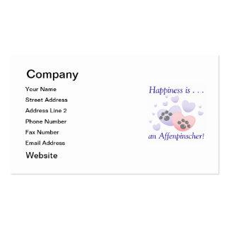 La felicidad es… un Affenpinscher Tarjetas De Visita