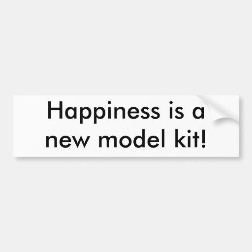 ¡La felicidad es un equipo del modelo nuevo! Pegatina Para Auto