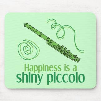 La felicidad es un flautín brillante alfombrilla de ratón