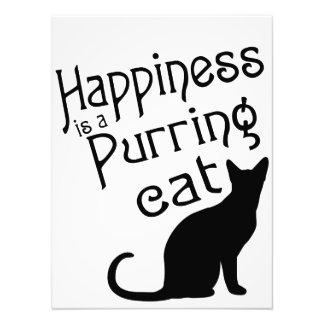 La felicidad es un gato de ronroneo fotografía