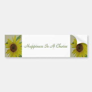 La felicidad es un girasol bien escogido pegatina para auto