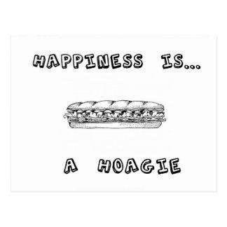 La felicidad es un Hoagie Tarjetas Postales