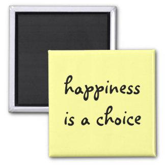 la felicidad es un imán bien escogido