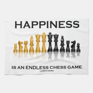 La felicidad es un juego de ajedrez sin fin toallas de cocina