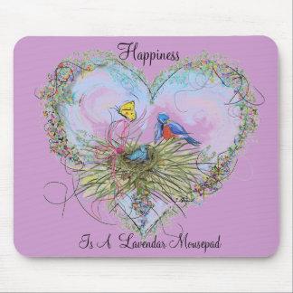 La felicidad es un Lavendar Mousepad Alfombrilla De Raton