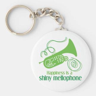 La felicidad es un Mellophone brillante Llavero Redondo Tipo Pin