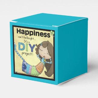 La felicidad es un proyecto de DIY Caja Para Regalos De Fiestas
