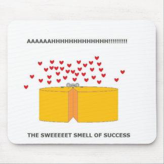 La felicidad es un queso caliente alfombrilla de raton