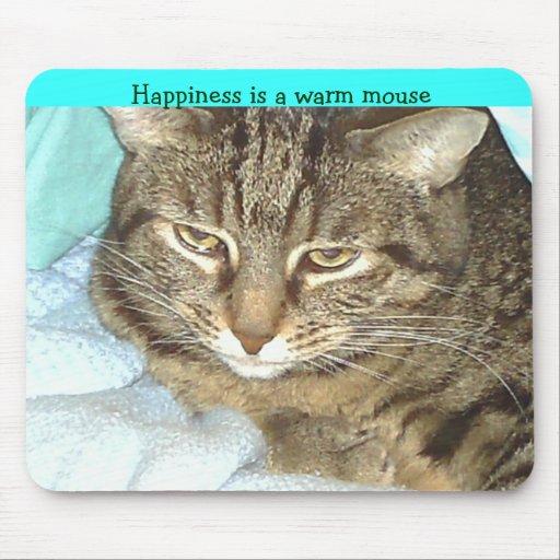 La felicidad es un ratón caliente tapete de ratones