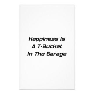La felicidad es un Tbucket en los regalos de Papelería