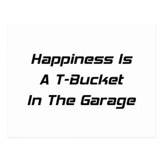 La felicidad es un Tbucket en los regalos de Tarjeta Postal