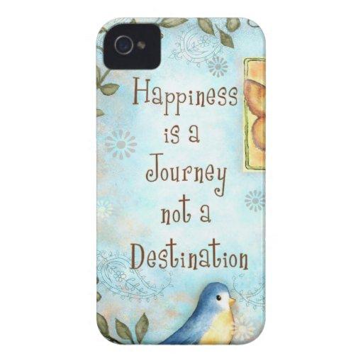 La felicidad es un viaje Case-Mate iPhone 4 funda
