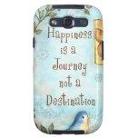 La felicidad es un viaje galaxy s3 protectores