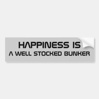 La felicidad es una arcón almacenada pegatina de parachoque