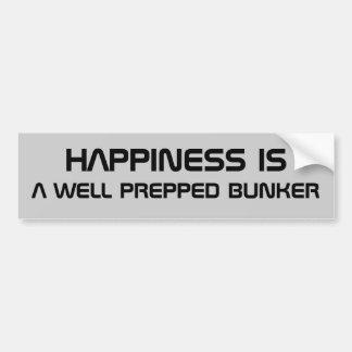 La felicidad es una arcón preparada pegatina de parachoque