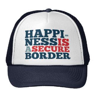 La felicidad es una frontera segura gorras de camionero