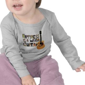La felicidad es una guitarra caliente camisetas
