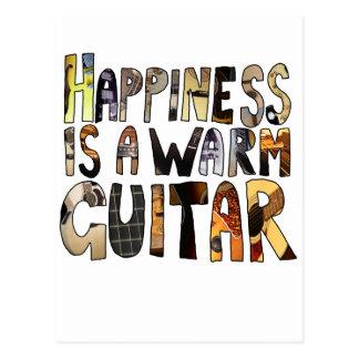 La felicidad es una guitarra caliente tarjeta postal