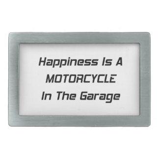 La felicidad es una motocicleta en el garaje hebilla cinturón