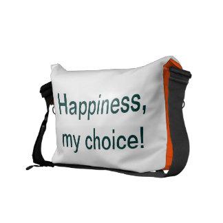 ¡La felicidad es una opción! Bolsas De Mensajeria