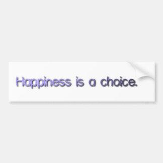 La felicidad es una opción etiqueta de parachoque