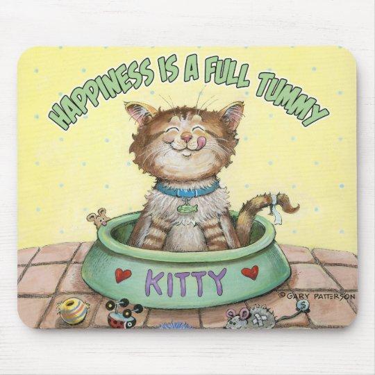 La felicidad es una panza llena alfombrilla de ratón