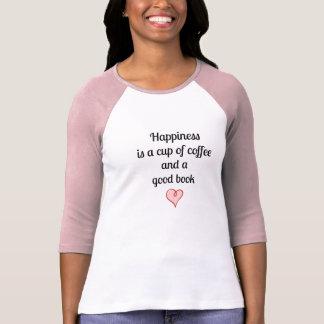 la felicidad es una taza de café y de un buen playeras