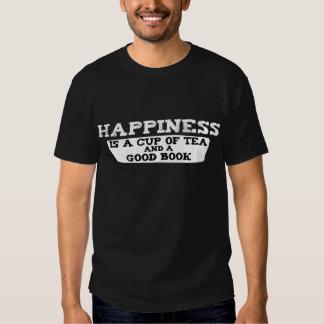 La felicidad es una taza de té y de un buen libro playera
