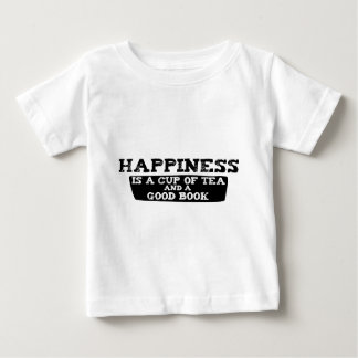 La felicidad es una taza de té y de un buen libro remera