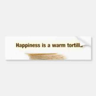 La felicidad es una tortilla pegatina para auto