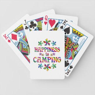 La felicidad está acampando baraja