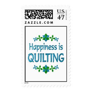 La felicidad está acolchando estampilla