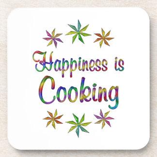 La felicidad está cocinando posavaso