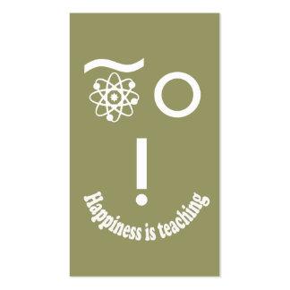 La felicidad está enseñando tarjetas de visita