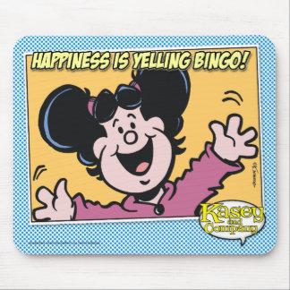 ¡La felicidad está gritando BINGO! Alfombrilla De Ratones