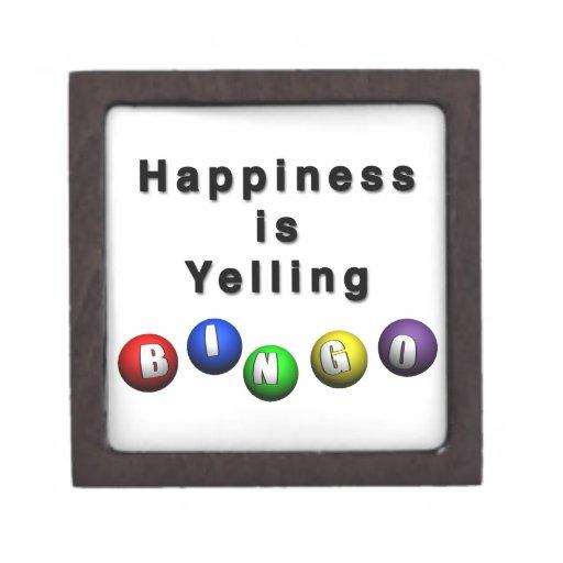 La felicidad está gritando BINGO Caja De Joyas De Calidad